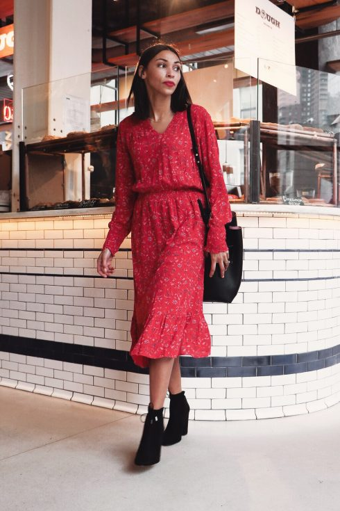 9de07be908b Another great transitional piece from winter to spring is the smock dress.  Pair the dress with boots and it becomes practical for the fluctuating  weather.