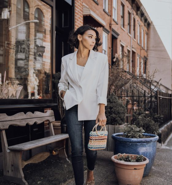 How To Add Edge To Your White Blazer This Spring