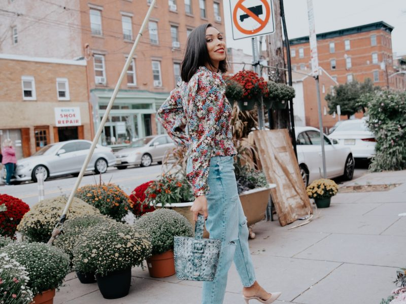 Yes, You Can Wear Floral Print In The Fall!